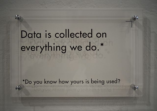 Data is collected on everything we do