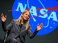 Dava Newman during a NASA town hall meeting.jpg