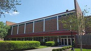 Stopher Gymnasium - Image: David R. Stopher Gymnasium (Thibodaux, Louisiana) quad entrance
