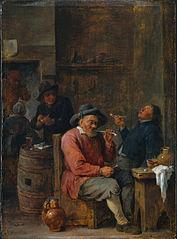 Peasants Smoking in an Inn (Cleveland)