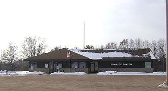 Dayton, Waupaca County, Wisconsin - Image: Dayton Town Hall