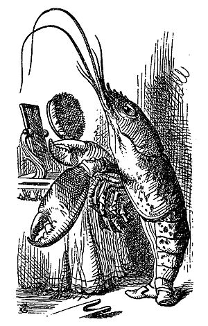 'Tis the Voice of the Lobster - The Lobster, illustrated by John Tenniel