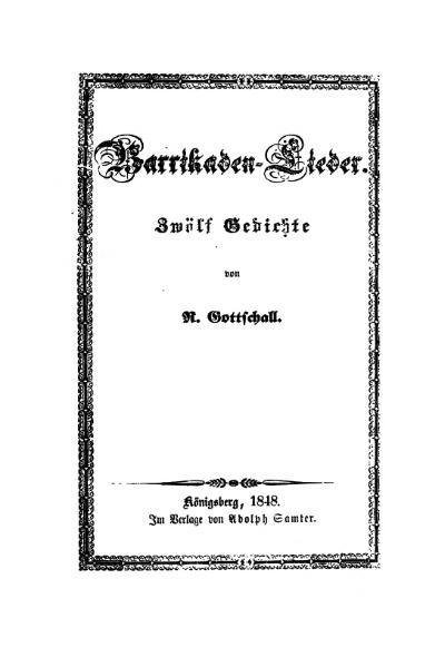 File:De Barrikaden Lieder (Gottschall).djvu