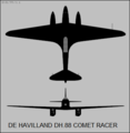 De Havilland DH.88 Comet two-view silhouette.png