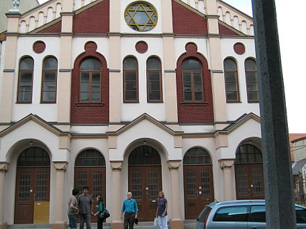 The main synagogue in the center of the city