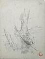 Dehodencq A. - Pencil - Etude de pieds d'arbres - 20x15.5cm.jpg