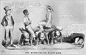James Buchanan - An anti-Buchanan political cartoon from the 1856 election