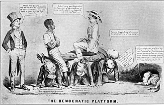 1856 United States presidential election - Caricature of Democratic Platform