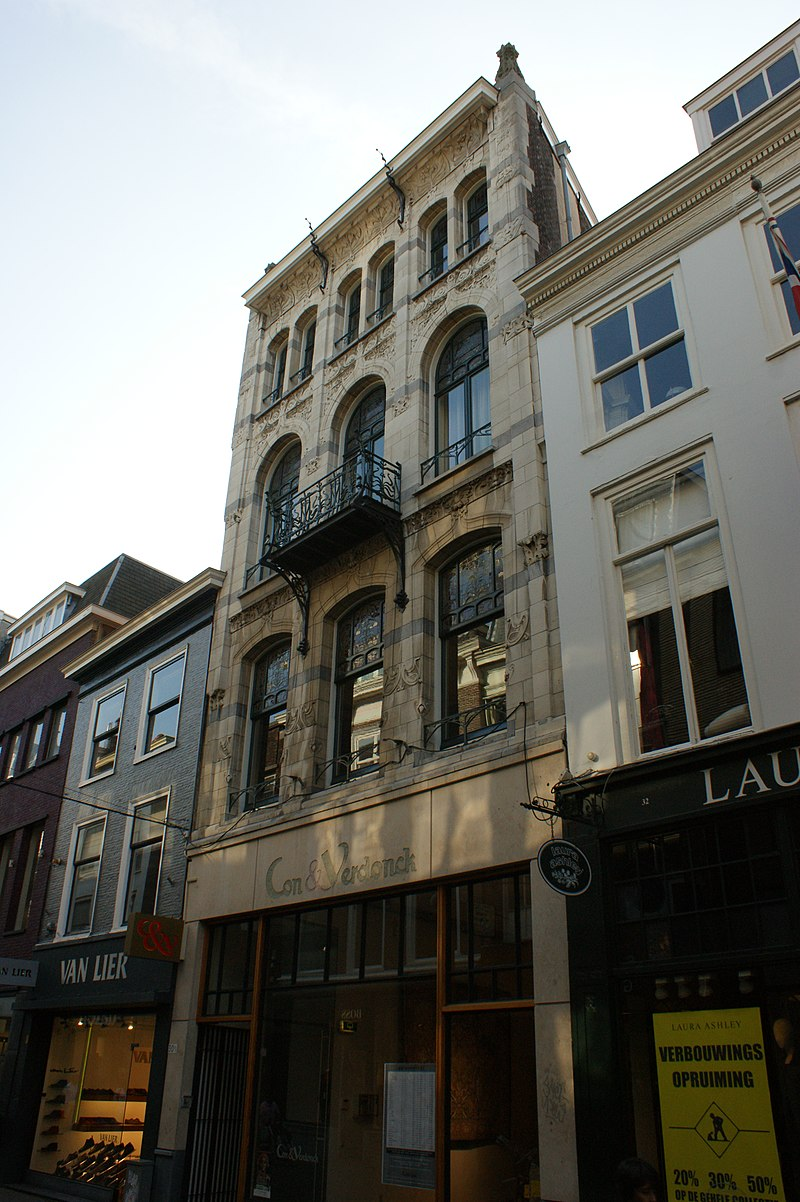Winkel woonhuis in art nouveau in 39 s gravenhage monument for Reiswinkel den haag