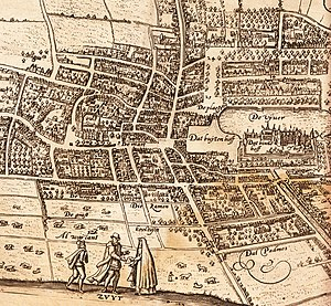 Lodovico Guicciardini - Map of the center of The Hague from Guicciardini's book