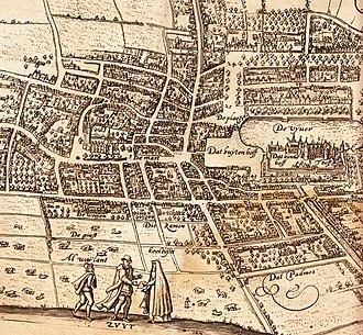 Lodovico Guicciardini - Map of the center of The Hague from Guicciardini's book