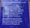 Denkmalschutztafel für das evangelisch-lutherische Friedenskirche in Hamburg-Sankt Pauli.jpg