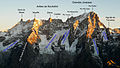 Dent du Géant - Grandes Jorasses - South face with labels.jpg