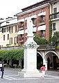 Desenzano del Garda, statue of Angela Merici and hotel Piroscafo.jpg