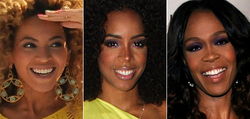 Destiny's Child(v. l. n. r. Beyoncé Knowles, Kelly Rowland und Michelle Williams)