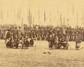 Detail, Troops Carrying Flags in Military Formation, Preceded by Four Cannons. Gansu Province, China, 1875 WDL1912 (cropped).png