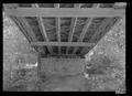 Detail of underside. - Swann Bridge, Spanning Locust Fork of Black Warrior River, Swann Bridge Road, Cleveland, Blount County, AL HAER AL-201-7.tif