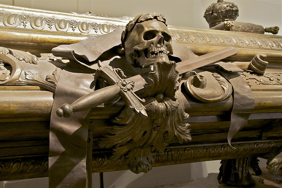Detail sarcophagus Leopold I Kaisergruft Vienna