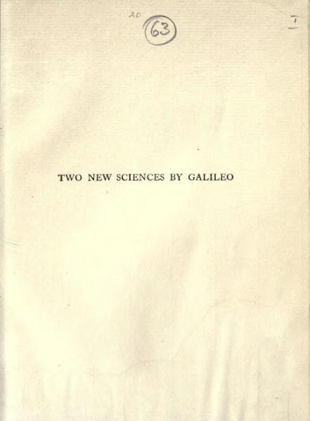 File:Dialogues Concerning Two New Sciences (1914).djvu