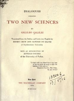 Dialogues Concerning Two New Sciences (1914).djvu