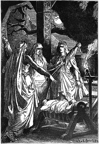 Norns - The Norns (1889) by Johannes Gehrts.