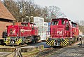 Diesel locomotives of Bentheimer Eisenbahn in Bad Bentheim.jpg