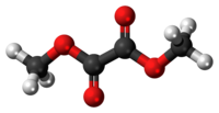 Ball-and-stick model of the dimethyl oxalate molecule