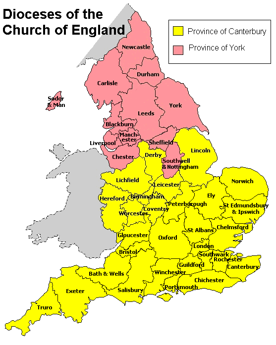 Dioceses of the CofE