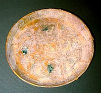 Dish from 9th century Iraq