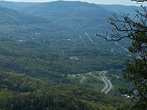 Distant view of Middlesboro, KY