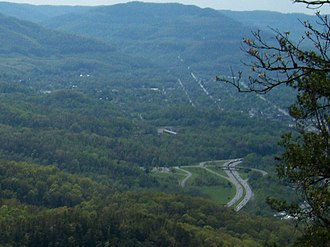 Middlesboro, Kentucky - View of Middlesboro from Cumberland Gap National Historical Park