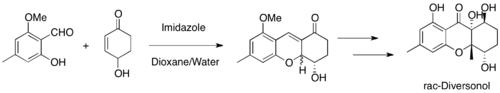Diversonol synthesis by MBH.png