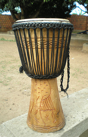 Djembe is a popular drum throughout West Africa.
