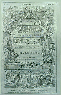 <i>Dombey and Son</i> monthly serial; novel by Charles Dickens; published 1846–1848