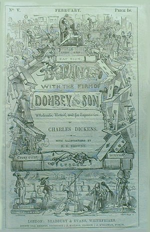 Dombey and Son - Cover, first serial edition, fifth instalment, February 1847