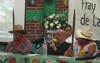 Samuel Ruiz - Samuel Ruiz Garcia with Atenco militants