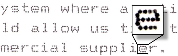 Dot matrix example text