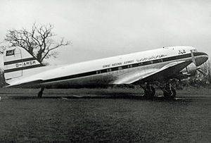 Kuwait Airways - Kuwait National Airways Douglas DC-3 in 1955