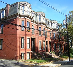 Downer Rowhouses - Image: Downer Rowhouses (Central Street) Somerville, MA