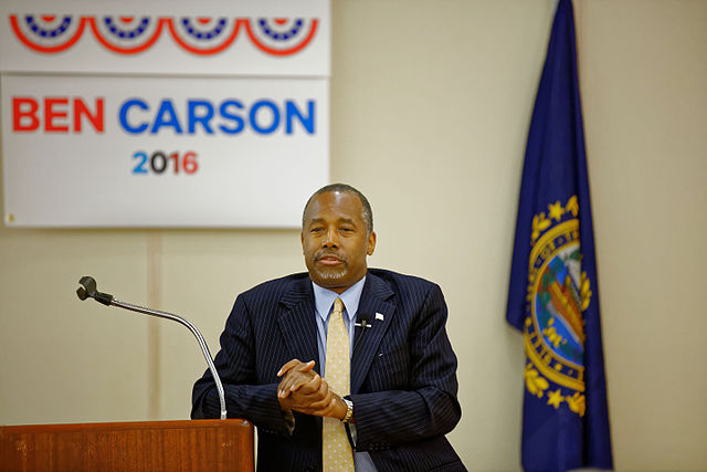 Ben Carson By Michael Vadon (Own work) [CC BY-SA 4.0 (http://creativecommons.org/licenses/by-sa/4.0)], via Wikimedia Commons