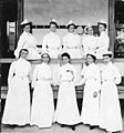 Dr. McGee and the American Nurses at the Military Reserve Hospital, Hirsohima, Japan, 1904.jpg