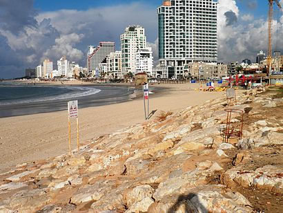 How to get to חוף אביב with public transit - About the place
