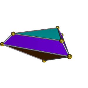 Elongated triangular pyramid - Image: Dual elongated triangular pyramid