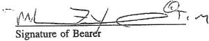 "Dwight York - York incorporates a ""™"" trade-mark suffix into his signature on a Liberian Consulate document."