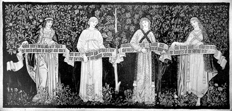 "EB1911 Tapestry - from William Morris poem ""The Orchard"".jpg"