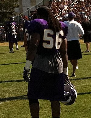 E. J. Henderson - E.J. Henderson at Vikings training camp, 2011