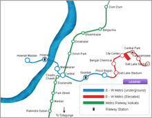 East West Metro Corridor Route Map.png