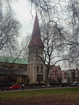 East Dulwich - St John the Evangelist church at Goose Green