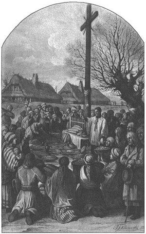 Święconka - Food blessing in the 19th century