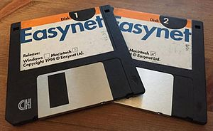 Easynet - Easynet pioneering Internet Service Provider released its first sign-up discs in 1994